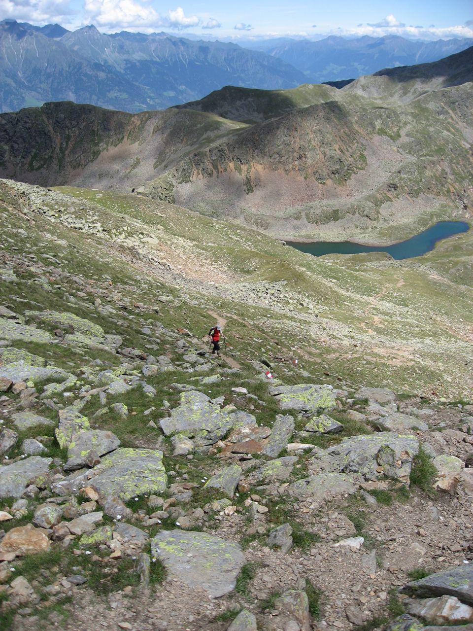 Aufstieg zum Gipfel über Route 4