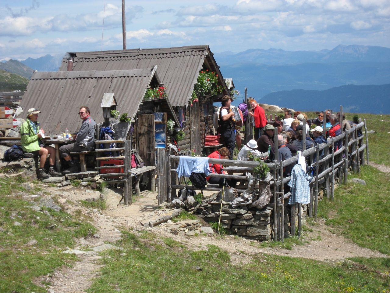 Die Schusterhütte auf 2310m