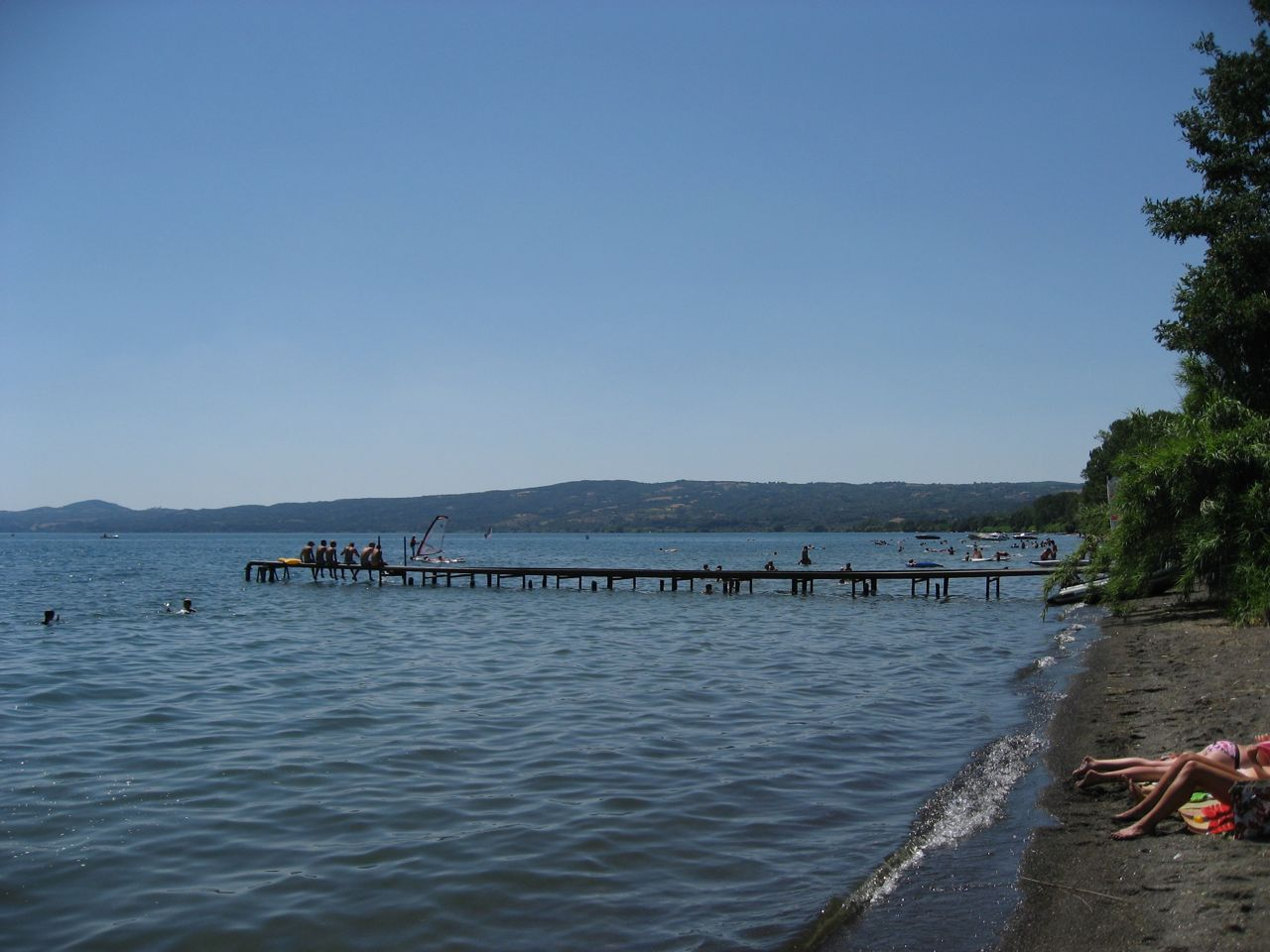 Ein Badetag am See