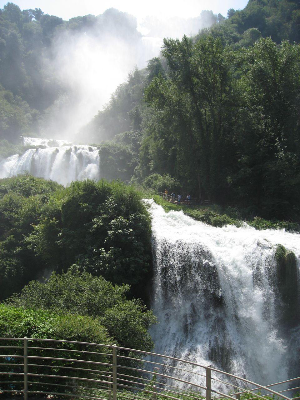 Die Wasserfälle in Betrieb